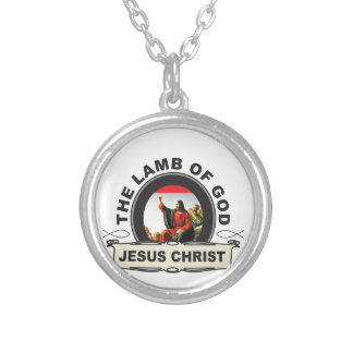 jc the lamb of god silver plated necklace