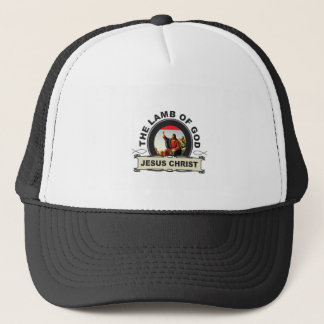 jc the lamb of god trucker hat
