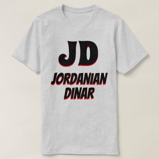 JD  دينار Jordanian dinar grey T-Shirt