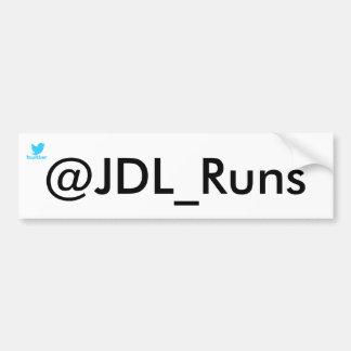 JDL_Runs bumper sticker