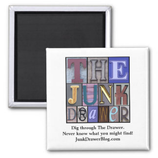 JDLogo, Dig through The Drawer. Ne... - Customized Square Magnet