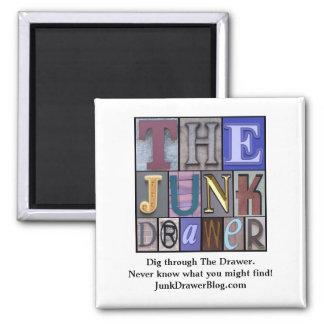 JDLogo, Dig through The Drawer. Ne... - Customized Square Magnet