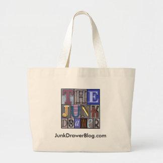 JDLogo, JunkDrawerBlog.com Large Tote Bag