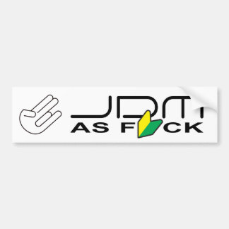 "JDM as FCK ""New Driver"" Bumper Sticker"