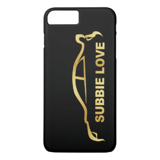 JDM Subby Love (Subaru WRX STI) Gold SIlhouette iPhone 7 Plus Case