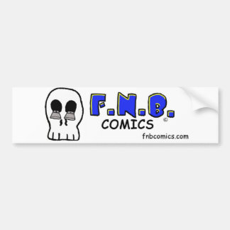 JD's skull with FNBcomics Logo Bumper Sticker