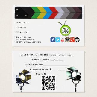 JD's T.V. Official Business Cards