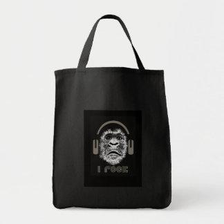 Je bascule les écouteurs de port de gorille sac en toile