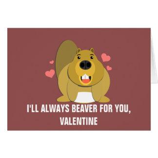 Je Beaver pour vous Valentine Carte De Vœux
