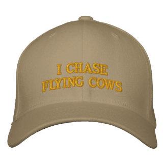 JE CHASSE le chapeau de VACHES à VOL Casquettes De Baseball Brodées