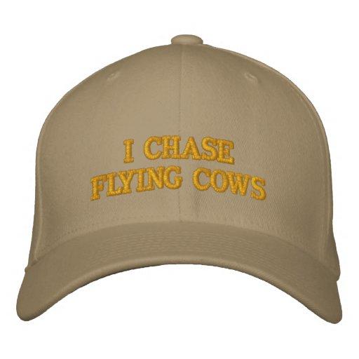 JE CHASSE le chapeau de VACHES à VOL Chapeaux Brodés