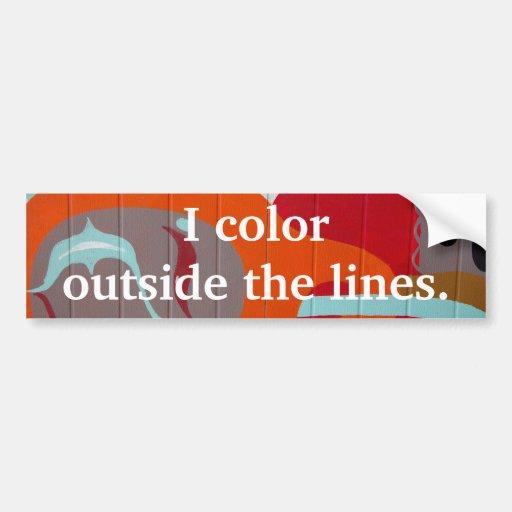 Je colore en dehors des lignes adhésif pour pare-c adhésifs pour voiture