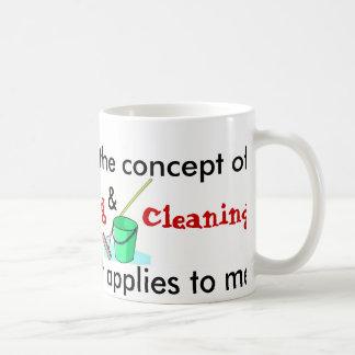 Je comprends le concept de la cuisine et du mug blanc