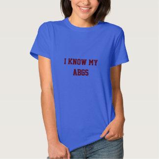 Je connais mon docteur médical d'infirmière d'ABGs Tee-shirts