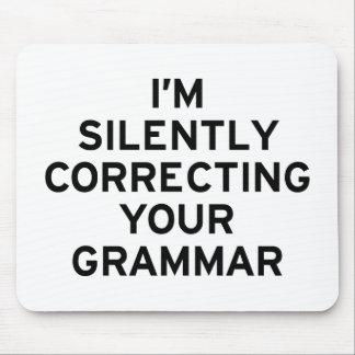 Je corrige la grammaire tapis de souris