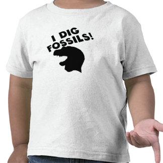 Je creuse des fossiles t-shirts