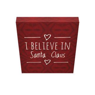 Je crois au décor de vacances de Père Noël Toiles