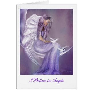 Je crois aux anges carte de vœux