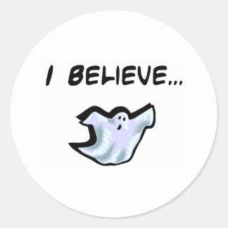 Je crois aux fantômes sticker rond