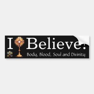 Je crois en eucharistie autocollant de voiture