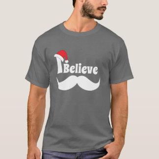 Je crois la conception de Noël avec la moustache T-shirt
