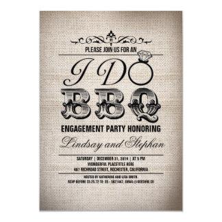 Je fais l'invitation de partie de fiançailles de carton d'invitation  12,7 cm x 17,78 cm