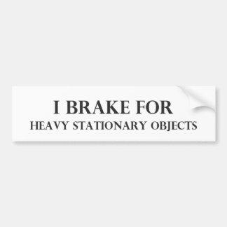 Je freine pour autocollant de voiture