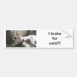 Je freine pour des chats autocollant de voiture
