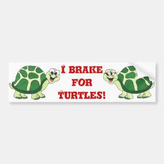 Je freine pour des tortues - adhésif pour pare-cho autocollants pour voiture