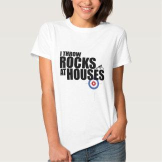 Je jette des roches au bordage de maisons tshirts