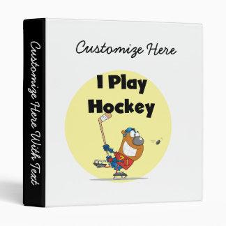 Je joue des T-shirts et des cadeaux d'hockey Classeurs 3 Anneaux