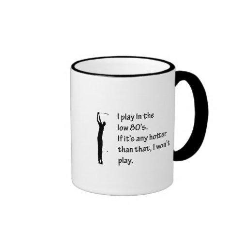 Je joue pendant les basses années 80 joue au golf  mug à café
