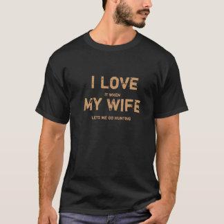 Je l'aime quand mon épouse me laisse aller à la t-shirt