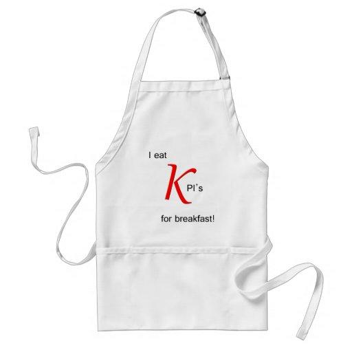 Je mange KPI pour le petit déjeuner Tabliers