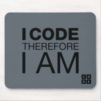 Je me code par conséquent suis tapis de souris