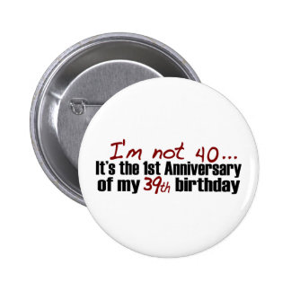 Je n'ai pas 40 ans macaron rond 5 cm
