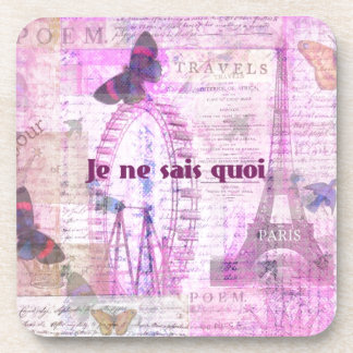 Je ne sais quoi  - French Phrase - Paris Theme art Coasters
