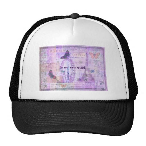 Je ne sais quoi  French Phrase - Paris Theme art Trucker Hat