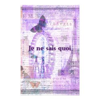 Je ne sais quoi  French Phrase - Paris Theme art Personalized Stationery