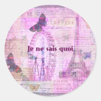 Je ne sais quoi - French Phrase - Paris Theme art Stickers