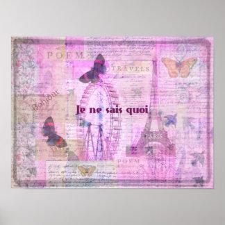 Je ne sais quoi  French Phrase - Paris Theme print