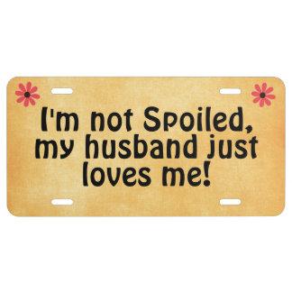 Je ne suis pas corrompu, mon mari m'aime juste cit plaque d'immatriculation