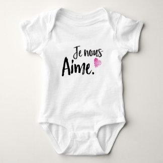 JE NOUS AIME BABY BODYSUIT
