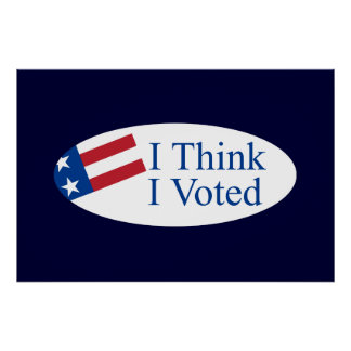 Je pense que j ai voté affiches