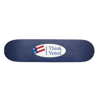 Je pense que j ai voté skateboards personnalisables