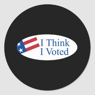 Je pense que j'ai voté autocollants ronds