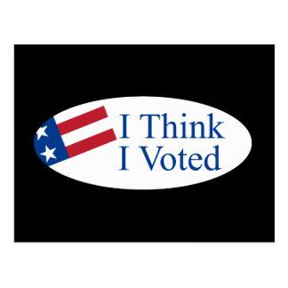 Je pense que j'ai voté cartes postales
