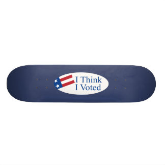 Je pense que j'ai voté skateboards personnalisables