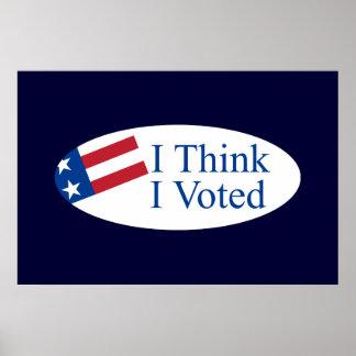 Je pense que j'ai voté poster