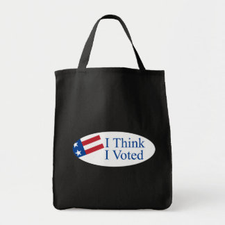 Je pense que j'ai voté sac en toile épicerie